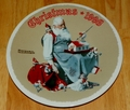 1998 Rockwell Plate Santa's Helpers Series Name Annual Holiday Plate