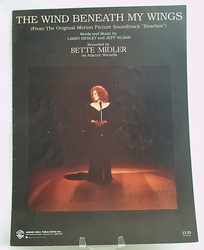 Sheet Music The Wind Beneath my Wings Bette Midler 1989