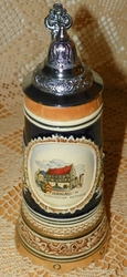 German Musical Beer Stein  DBGM #60 Swiss Movement Music Box Plays Trink Br�derlein SOLD