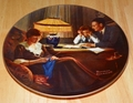 Collector Plate Rockwell Light Campaign Series Father's Help