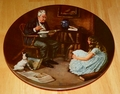 Collector Plate Rockwell Heritage Collection Series The Storyteller
