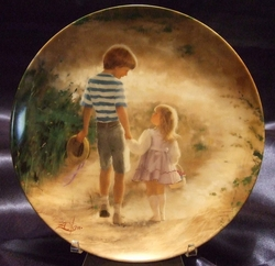 Collector Plate Donald Zolan Country Walk 6th issue