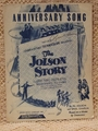 Collectible Sheet Music Anniversary Song The Jolson Story