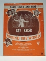 Collectible Sheet Music Candlelight and Wine Around the World