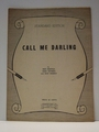 Collectible Sheet Music Call Me Darling Std Ed