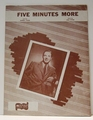 Five Minutes More - Sheet Music