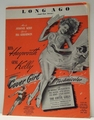Long Ago (And Far Away) Film Cover Girl - Sheet Music