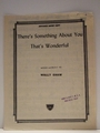 There's Something About You That's - Sheet Music