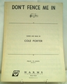 Sheet Music Don't Fence Me in 1944
