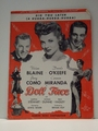 Collectible Sheet Music Dig You Later from Doll Face