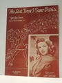 The Last Time I Saw Paris Judy Garland - Sheet Music