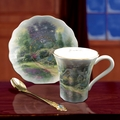 Thomas Kinkade & Bradford Editions Teacup Sets