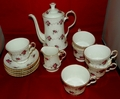 Hammersley (Spode) Windsor Rose China Coffee Set Made in England