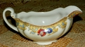 Johnson Brothers Gravy Boat JB882 Pareek Red & Blue with Brown Trim