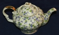 Vintage Teapot / Tea Pot �VIOLET CHINTZ by Lefton China Teapot �4 Cup