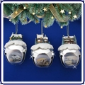 Thomas Kinkade Sleigh Bells Ornament Set of 3