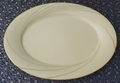 Noritake Oval Serving Platter Golden Tide #7739 Fine China
