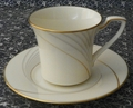 Noritake Cup & Saucer Golden Tide #7739 Fine China