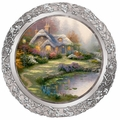 Collector Plate Thomas Kinkade Everett's Cottage 25th Annv Master Pewter