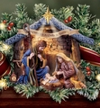 Thomas Kinkade Nativity Collection 22K-Gold Accents