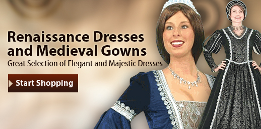 Renaissance and Medieval Dresses and Gowns