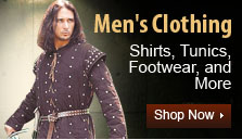 Men's Renaissance and Medieval Clothing