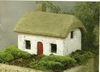 MIniature Irish Cottage w/ Red Door