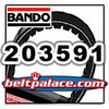 BANDO Belt 203591 (A-DF) PREMIUM GO KART BELT Replaces Comet 203591-A/DF, Yerf Dog Belt Q43203W.