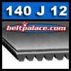 "140J12 Poly-V 12 rib belt. 12-PJ356 Metric Belt. 14"" (356mm) Length. BANDO 140J12 Poly-V"