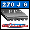 270J6 Belt, Poly-V, 27 inch (Metric: 686mm) 6 rib Belt.