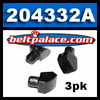 204332A (3-Pack) Insert buttons. Manco 6804 buttons. Replaces OEM �non-snap� insert buttons on Comet 20 Series, 30 Series, TAV, Go Karts.