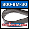 800-8M-30 SynchroLink Timing Belt. 800mm Length, 8mm Pitch (8M), 30mm Wide, 100 teeth.