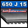 650J15 Poly-V Belt (Micro-V): Metric PJ1651 Motor Belt.
