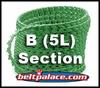 "B Link V Belt: Sold as Spool of 100 Feet B-BX-5L Section Link V Belting. 0.66"" Top Width"