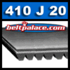 "410J20 GATES MICRO-V BELT. 41"" Length, 20 Ribs. Metric Belt PJ1041."