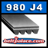 980J4 Poly-V Belt (Micro-V): Metric 4-PJ2489 Motor Belt.