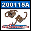 Comet 200115A Brown Clutch Springs. Package of 2. Standard �Brown� springs for 350 Series Clutch. 2200/2400 engagement.