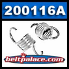 Comet 200116A White Clutch Springs. Package of 2. Standard �White� springs for 350 Series Clutch. 1100/1300 engagement.
