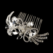 * Beautiful Crystal Vintage Swirl Inspired Wedding Bridal Hair Comb 586