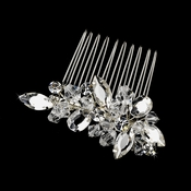 Silver Clear Comb Pin 8882