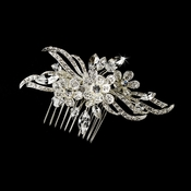 Wonderful Silver Clear Crystal Hair Comb 9843