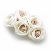 Charming Ivory Rum Pink Flower Bridal Hair Comb 4647