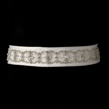 * Crystals, Rhinestones & Bugle Bead Accented Wedding Bridal Belt 6