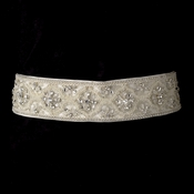 * Crystal & Bugle Beaded Wedding Sash Bridal Belt 12