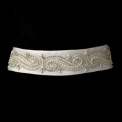Pearl & Rhinestone Wedding Sash Bridal Belt 16
