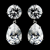 Gorgeous Cubic Zirconium Teardrop Earrings E 5372
