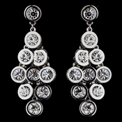 Flirty Silver Clear Crystal Chandlier Earrings 8593