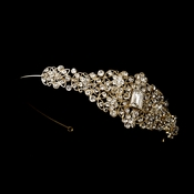 Gold Crystal & Rhinestone Side Accented Headband HP 622