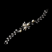 Charming CZ & Freshwater Pearl Bracelet B 1268 ( Silver or Gold )
