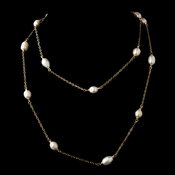 "Gold Pearl 36"" Necklace 7992"